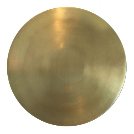 51717b Deco Plate Brass Ø36
