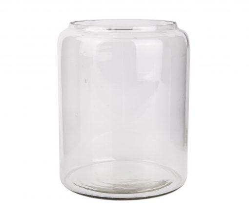 smoke farvet glas vase